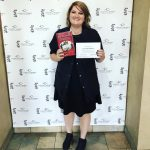 Lisa Buchhalter, winning the Joe Francis Haircare Scholarship