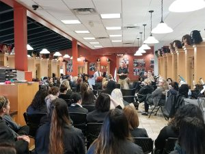 State Rep. Stephen Huffman Visits Local Cosmetology School