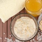 Raw ingredients used for making face masks and body scrubs