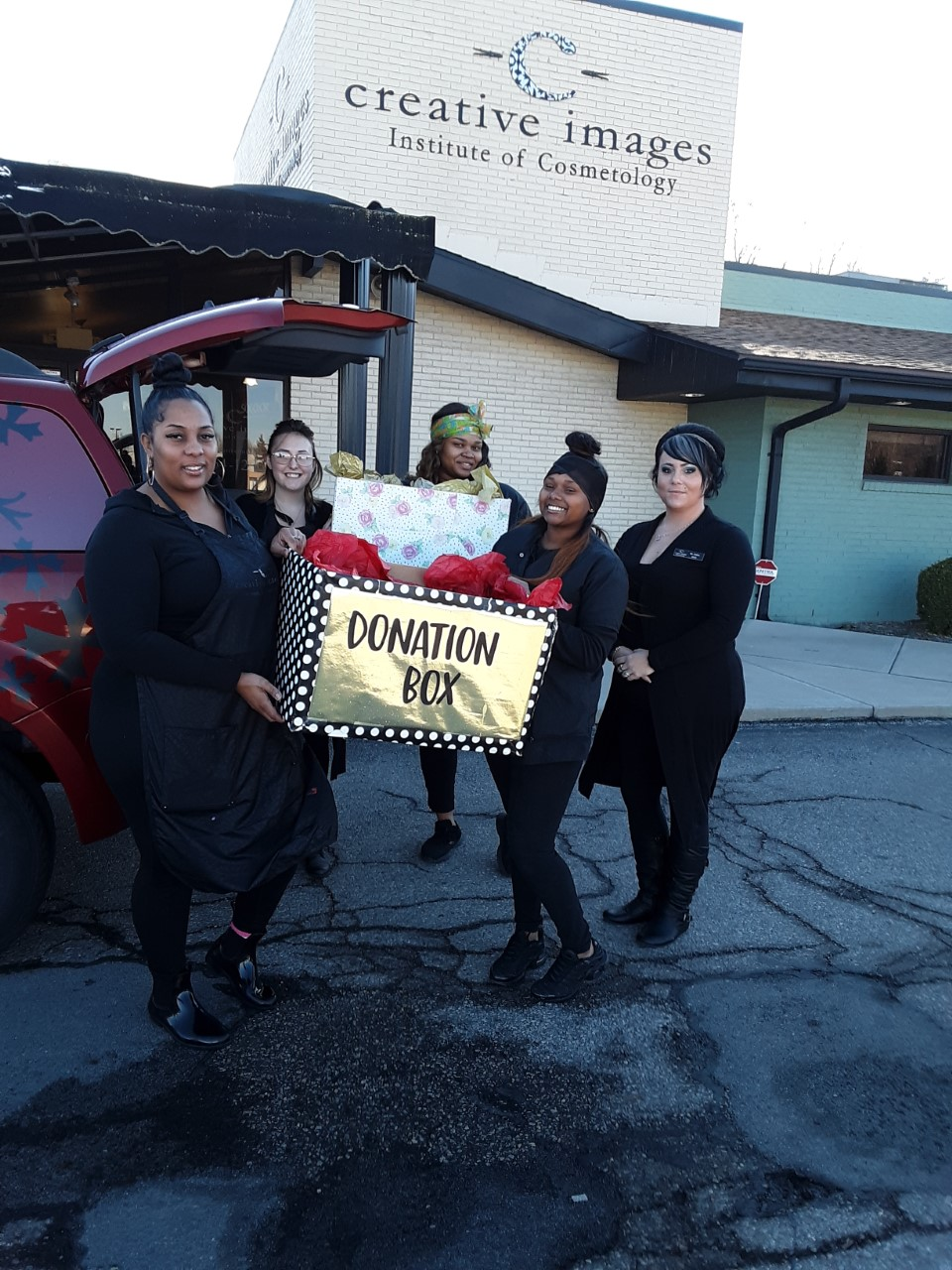 Students of local Dayton Cosmetology school raise donations for Toys for Tots