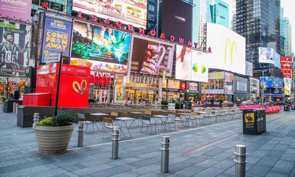 Empty Times Square Coronavirus