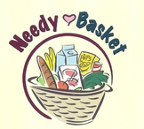 Collecting food donations for The Needy Basket-- a Miami Valley community food bank.