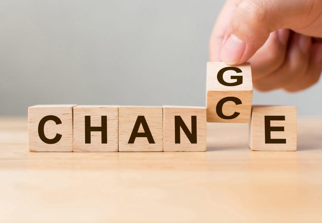 Chance over change